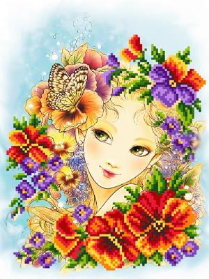 Рисунок на шелке Виолла Матренин Посад. Цвет: красный