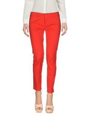 Повседневные брюки NIOI. Цвет: красный