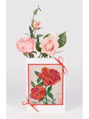 Наборы для создания открытки Розовое утро Матренин Посад. Цвет: белый, красный
