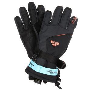 Перчатки сноубордические женские  Crystal Gloves True Black Roxy. Цвет: черный