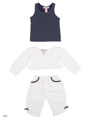 Комплект нательный для малыша ВАЛЕНТИНА СТИЛЬ. Цвет: синий