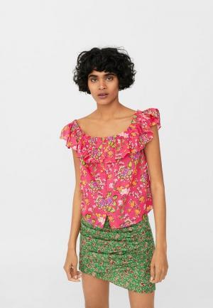 Блуза Mango. Цвет: розовый