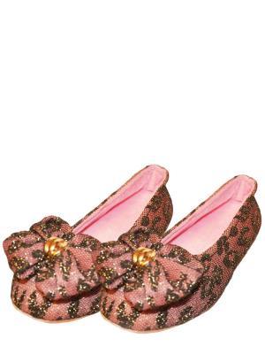 Носки-тапочки HOBBY LINE. Цвет: черный, сиреневый, бледно-розовый