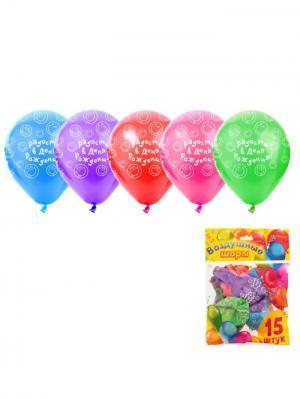 Набор воздушных шаров А М Дизайн. Цвет: голубой, красный, фиолетовый