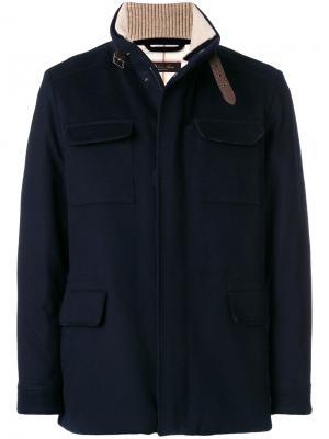 Куртка с накладными карманами Loro Piana. Цвет: синий