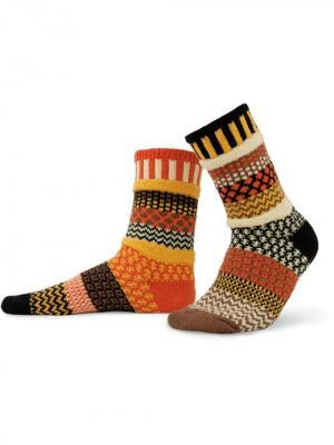 Носки solmate socks. Цвет: черный, оливковый, темно-коричневый