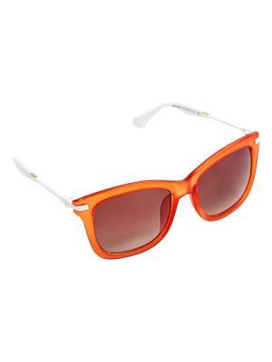 Солнцезащитные очки Kameo-bis. Цвет: белый, оранжевый, золотистый