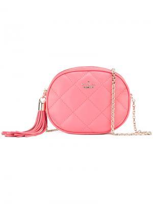 Стеганая сумка через плечо Kate Spade. Цвет: розовый и фиолетовый
