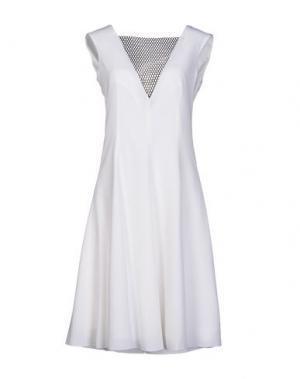 Платье до колена TROU AUX BICHES. Цвет: белый