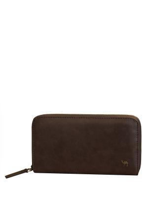 Портмоне-клатч XL Dimanche. Цвет: темно-коричневый, коричневый