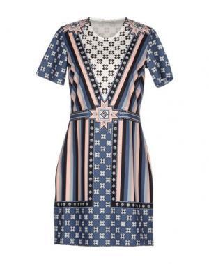 Короткое платье EMMA COOK. Цвет: грифельно-синий