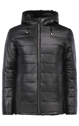 Куртка из натуральной кожи на подкладке овчины Jorg weber