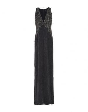 Длинное платье JENNY PACKHAM. Цвет: стальной серый