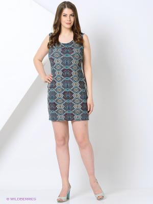 Платье Cariba. Цвет: темно-синий
