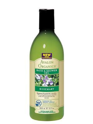 Гель для ванны и душа с маслом розмарина, 355 мл Avalon Organics. Цвет: прозрачный