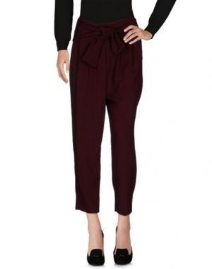 Повседневные брюки VICOLO. Цвет: красно-коричневый