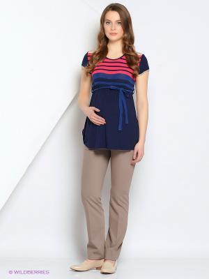 Блуза Gebbe. Цвет: темно-синий