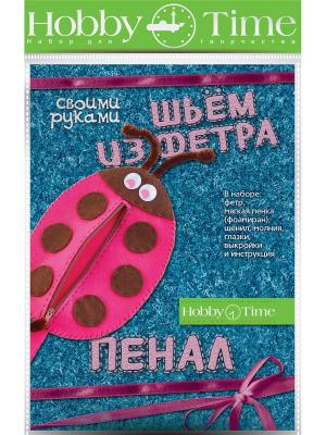 Набор для творчества шьем из фетра. пенал своими руками. божья коровка Альт. Цвет: розовый