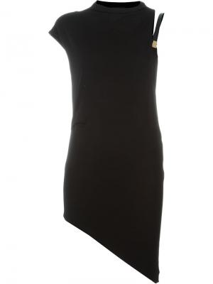 Асимметричное платье Anthony Vaccarello. Цвет: чёрный
