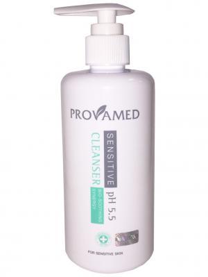 Средство для очищения чувствительной кожи (260 мл.) Provamed. Цвет: бирюзовый, белый