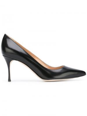 Туфли-лодочки на шпильке с заостренным носком Sergio Rossi. Цвет: чёрный