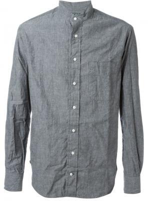 Рубашка шамбре Gitman Vintage. Цвет: серый