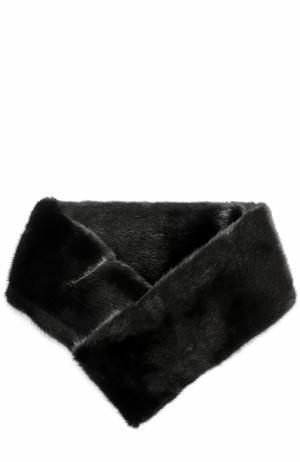 Воротник из меха норки Escada. Цвет: черный