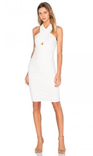 Платье allure Bardot. Цвет: белый