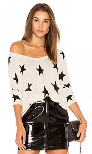 Red rock linen star sweater Central Park West. Цвет: ivory