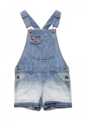 Комбинезон джинсовый Acoola. Цвет: голубой