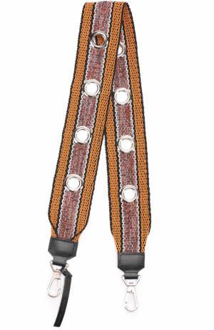 Текстильный ремень для сумки с металлическими люверсами Proenza Schouler. Цвет: разноцветный