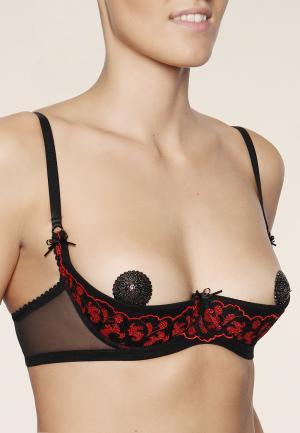 - London Эротический бюстгальтер Черный/красный ENAMORA inspired by women