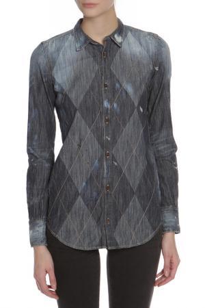 Рубашка DSquared2. Цвет: деним