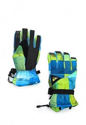 Перчатки горнолыжные Quiksilver. Цвет: разноцветный