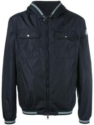 Куртка с капюшоном Jeanclaude Moncler. Цвет: синий