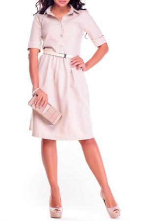 Платье Dioni. Цвет: бежевый