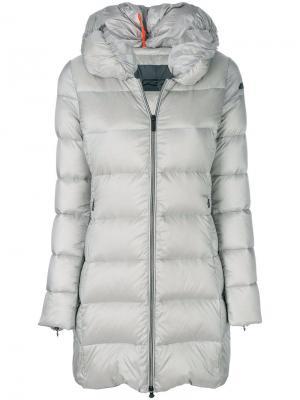 Дутое длинное пальто Rrd. Цвет: серый