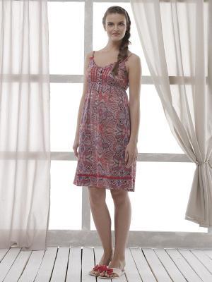 Ночная сорочка RELAX MODE. Цвет: розовый, красный