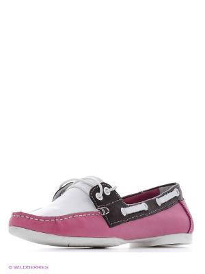 Мокасины Walrus. Цвет: розовый, белый, коричневый
