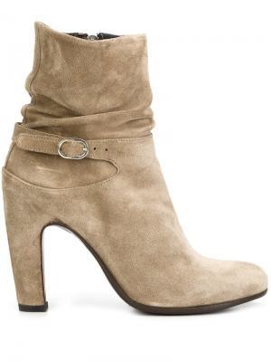 Мешковатые ботинки по щиколотку Officine Creative. Цвет: телесный