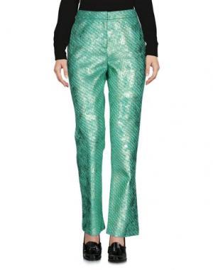 Повседневные брюки JO NO FUI. Цвет: светло-зеленый