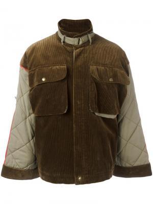 Вельветовая куртка Jc De Castelbajac Vintage. Цвет: коричневый