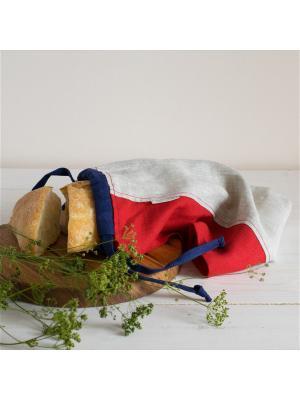 Мешок для хлеба Датские вафли Helgi Home. Цвет: серый, красный