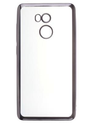 Накладка  skinBOX silicone chrome border 4People для Xiaomi RedMi 4 Pro/Prime. Цвет: темно-серый
