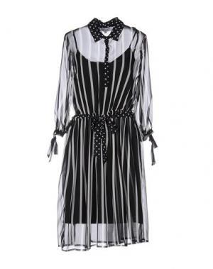 Платье до колена ANNA RACHELE. Цвет: черный