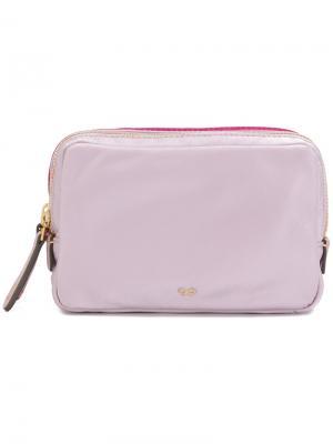 Косметичка Double Stack Anya Hindmarch. Цвет: розовый и фиолетовый