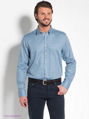 Рубашка MONDIGO. Цвет: голубой