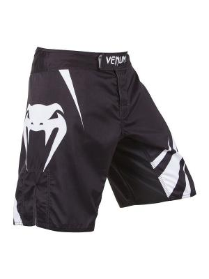 Шорты ММА Venum Challenger Fightshorts - Black/Ice. Цвет: белый, черный