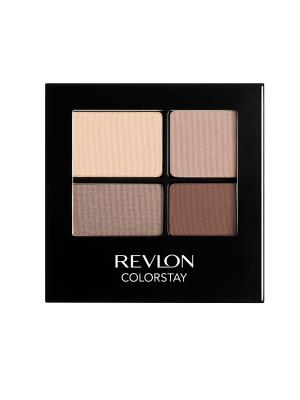 Тени для век четырехцветные Colorstay Eye16 Hour Eye Shadow Quad, Addictive 500 Revlon. Цвет: бежевый
