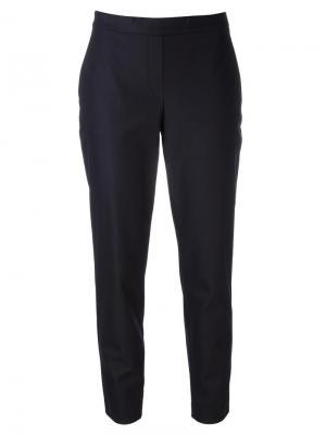 Зауженные брюки Theory. Цвет: синий